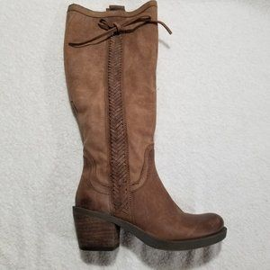 Nine West leather brown knee high boots